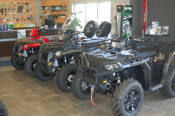 ATV's on the dealership floor | Door County Motorsports