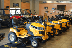 Cub Cadet Lawnmowers on the dealership floor | Door County Motorsports
