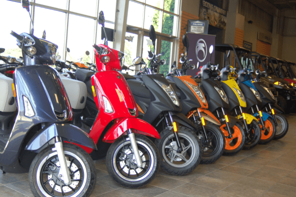Scooters from Geniune Scooter Company and Kymco